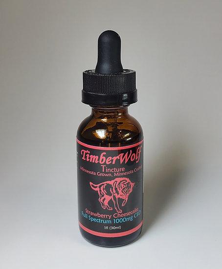 TimberWolf CBD Infused Oil 1000mg Strawberry Cheesecake 5 pack