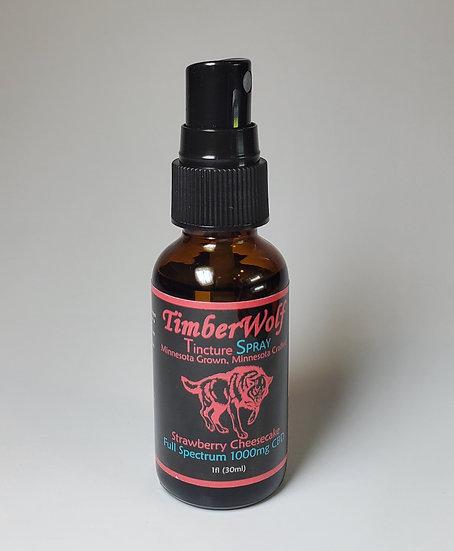 TimberWolf Spray CBD Infused Oil 1000mg (Strawberry Cheesecake)