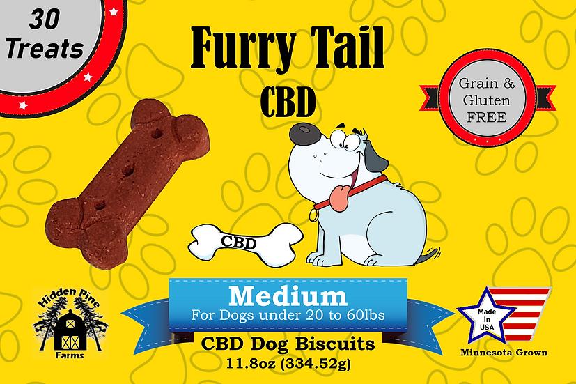 Furry Tail CBD Medium Dog Biscuits