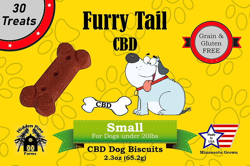 Furry Tail CBD Small Dog Biscuits