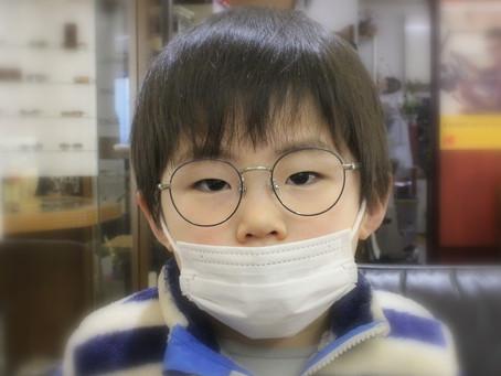 3歳の可愛い~男の子に、炭治郎柄のメガネ♪