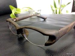 天然銘木の眼鏡