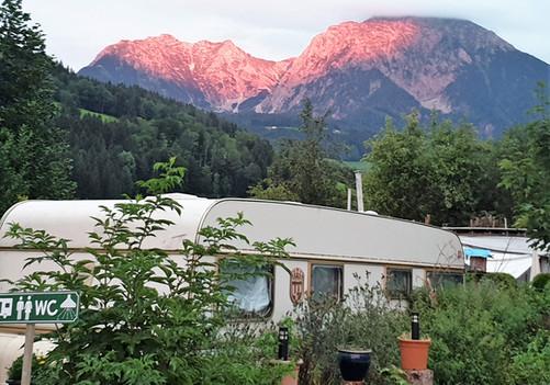 Abenddämmerung am Campingplatz Pyhrn-Priel