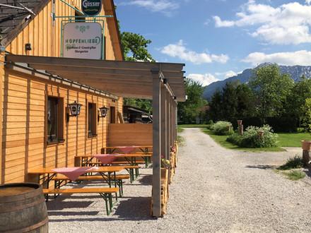 Campingplatz Pyhrn-Priel überdachte Terrasse