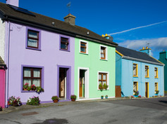 Colourful houses in Cork