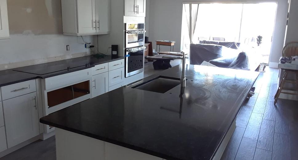 Steel Grey Kitchen & Island