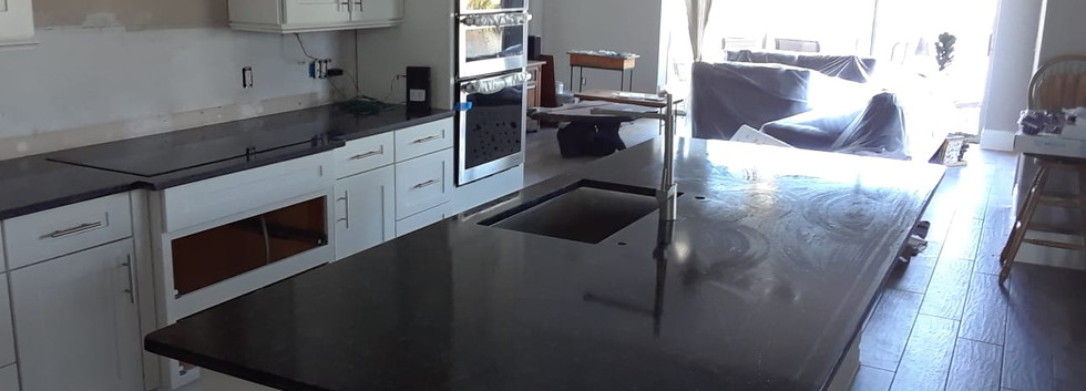 Steel Grey Kitchen & Island
