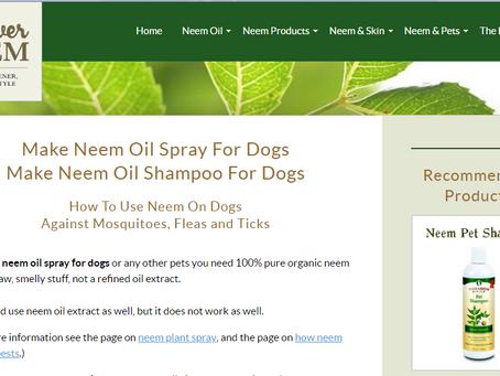 מוצר טבעי לטיפול בפרעושים וקרציות , שמן הנים