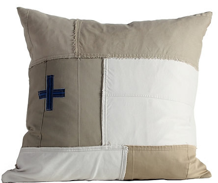 """Goods Made Good"" Khaki Fabric Euro Pillow Cover"