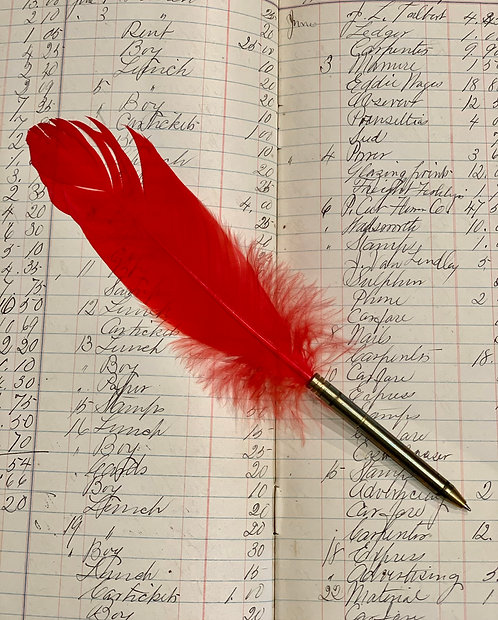 RED QUILL PEN