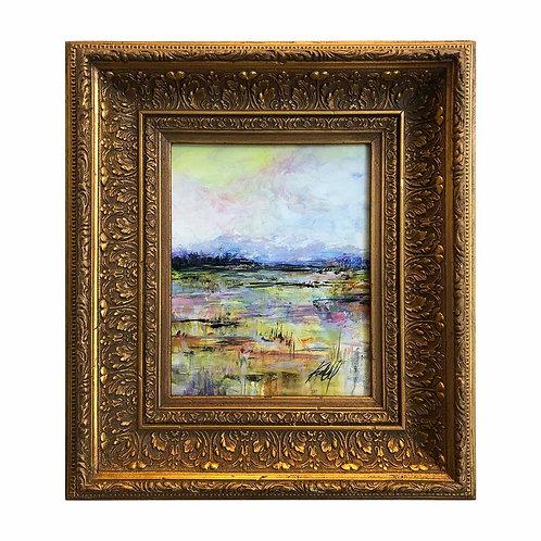Landscape 1  in Gold Frame