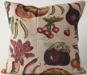 Veggies Fabric Euro Pillow Cover