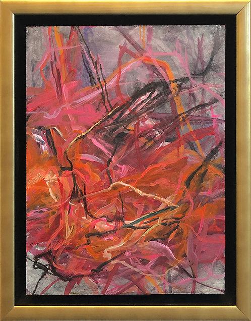 Abstract 446 (9X11.5) Original -Framed