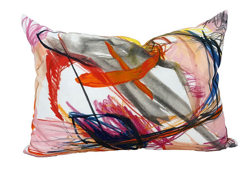 Multicolored abstract pillow