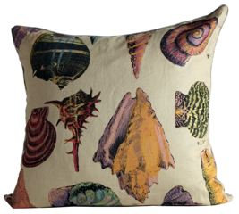 Assorted Shells Fabric Euro Pillow Cover