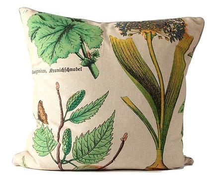 Botanical Fabric Euro Pillow Cover