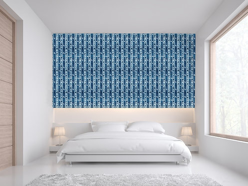 Wall Covering 'Cotswold - Cyan'