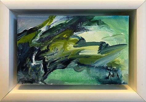 Abstract 445 (7 X 10) Original -Framed