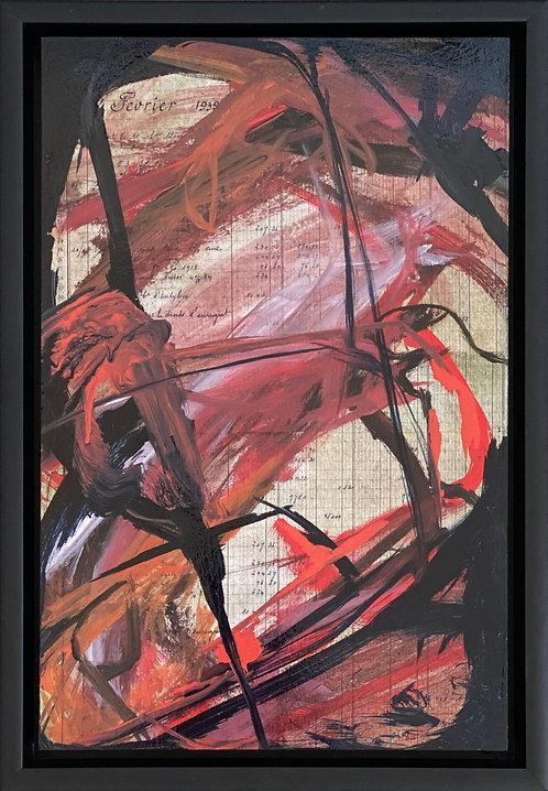 Abstract 440  (14 X 20) Original -Framed