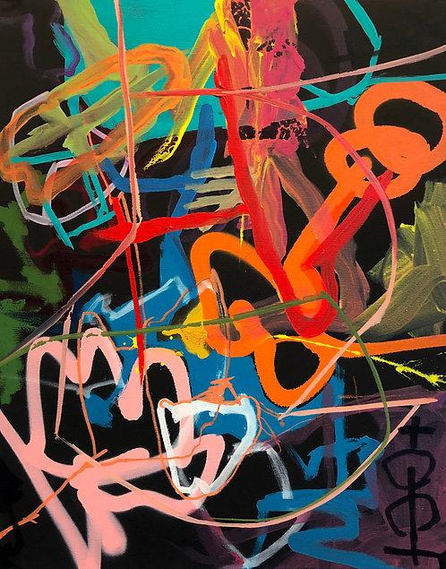 Fun House 14 (16x20) Original -Stretched