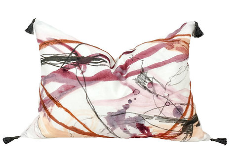 Red & Pink Abstract Pillow