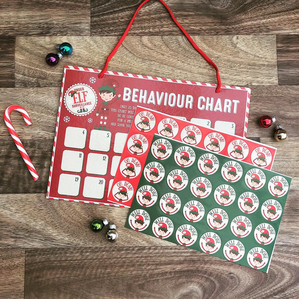 Christmas Naughty Or Nice Chart.Naughty Or Nice Christmas Countdown Chart Handmade Treasures