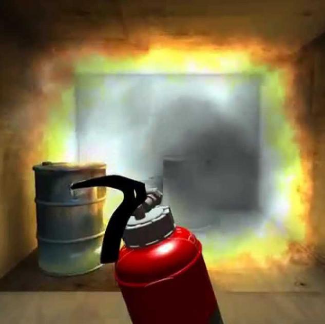 Extinguish fire training - Unity3d