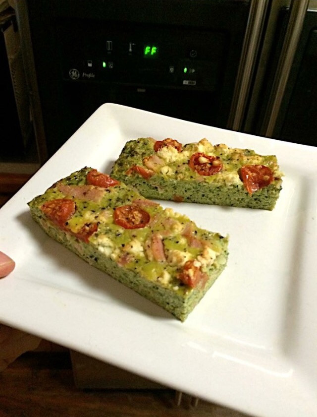 GREEN PALEO MEGABOOST QUICHE - meat and vegetarian version