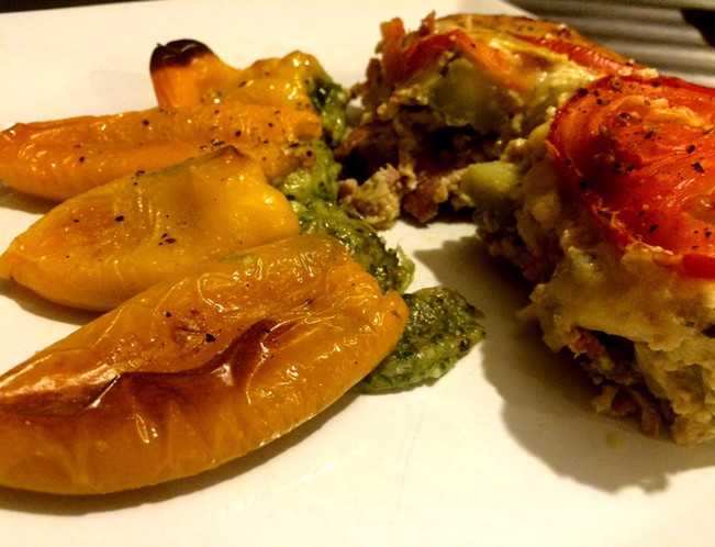 PALEO STUFFED BABY CAPSICUMS - vegan and vegetarian version