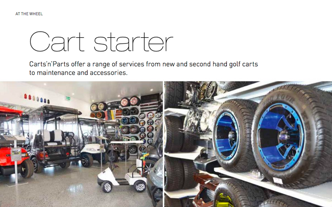 Feature Article Cove Magazine - Carts n Parts