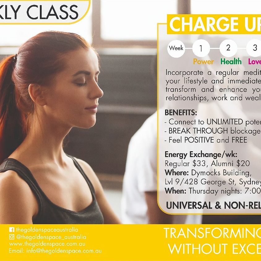 Charge Up! Weekly @ The Golden Space (SYD)