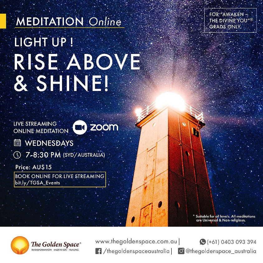 "Light-Up Online for the ""Awaken ~ The Divine You"" Graduates"