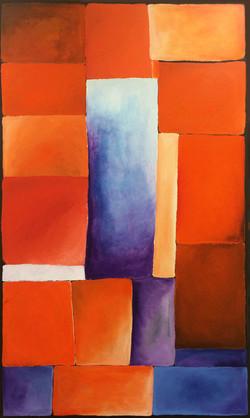 Orange and Purple- Heart Spaces '15