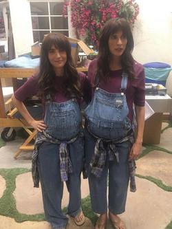 BTS Mara Klein and Michaela Watkins