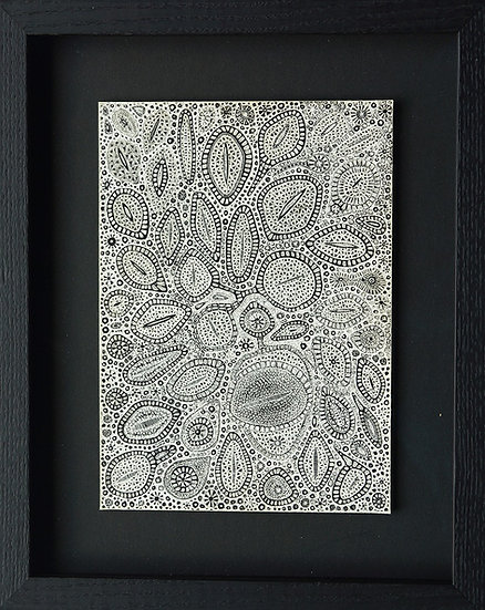 Looking For A Friend, 2015, Scratched Ink‐plated Clay Boards