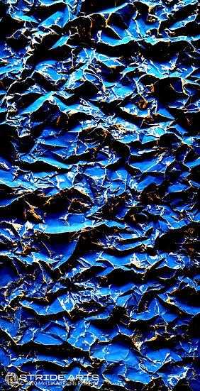 Folding2020. Earth. Blue No.1, 2020, Acrylic on Paper