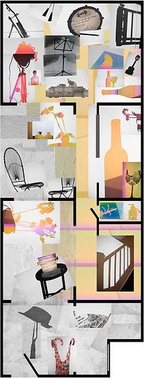 Blueprint 26 - Casa Rosa Amarela, 2018, Archival pigment print