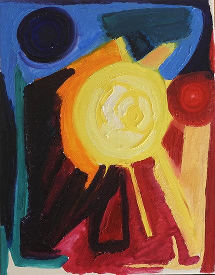 Suncity, 2019, Oil on canvas