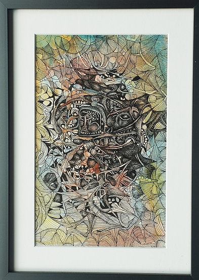 Green, 1985, Watercolor and Ink on Paper