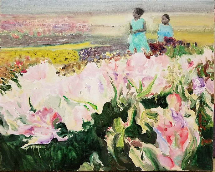 The Tulip Field, 2017, Oil on Canvas