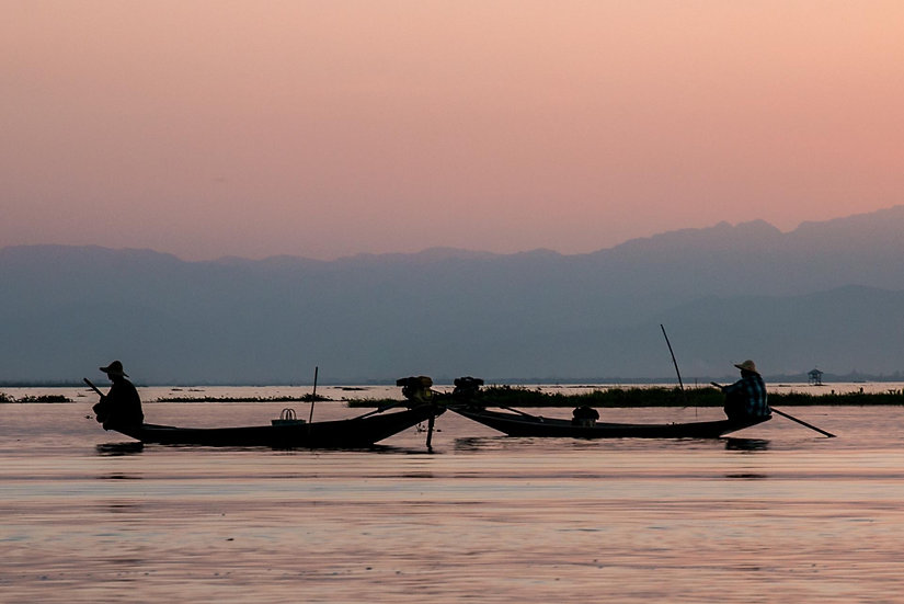 Peace at Sunset in Inle Lake, 2015, Photograph
