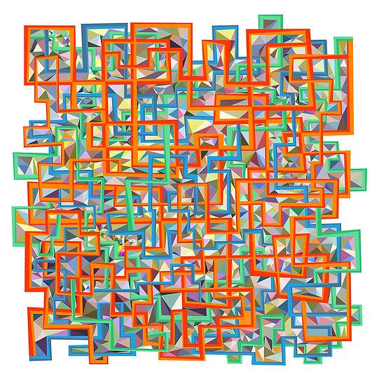 Triangle Riot, 2017, Digital giclee print