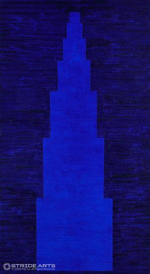 Mythology. Blue No.1, 2018, Mixed Media on Canvas