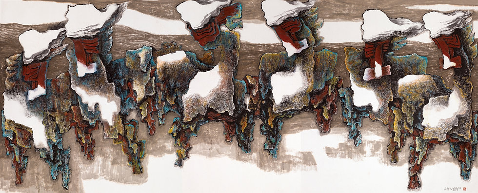 Legend of Horses (18-5), 2018, Mixed Media on Paper