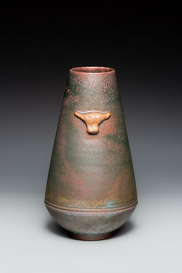 Flower Vase with Bull Heads