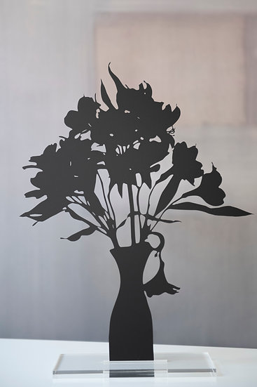 Alstroemerias, 2019, Black matte acrylic