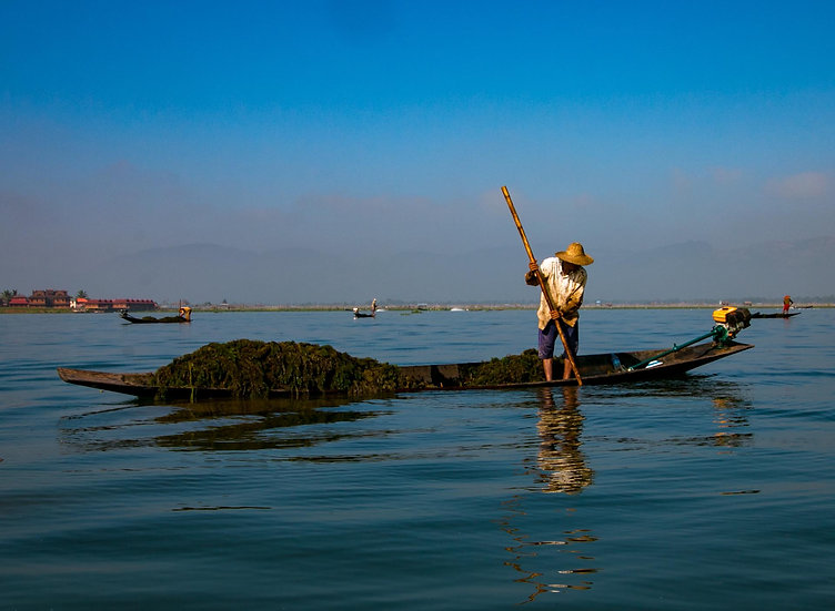 Fishing in Inle Lake, 2015, Photograph
