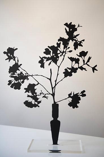 Cherry Blossoms, 2019, Black matte acrylic