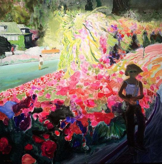 Vivid Memories of Butchart Gardens, 2016, Oil on Canvas
