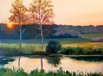 Soaring Gardens Sunset_Oil on Canvas.jpg